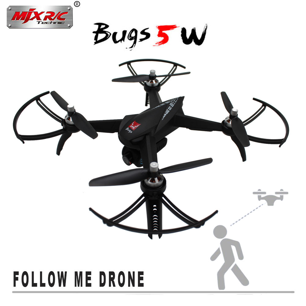 MJX Bugs 5 W B5W 1080P 5G Wifi Camera RC Drone with 2.4Ghz two-way communication GPS and One Key Return RC Quadcopter Drone mjx b2c 2 4g rc drone 4ch 1080p camera drone automatic return rc quadcopter with gps intelligent orientation control dropship