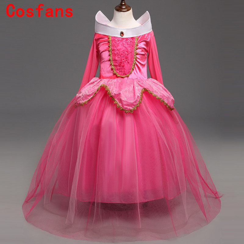Halloween new children's clothing Aurora princess girl dress cosplay Costume For Kids Girls Tulle Party Dress 4-9 Years Birthday