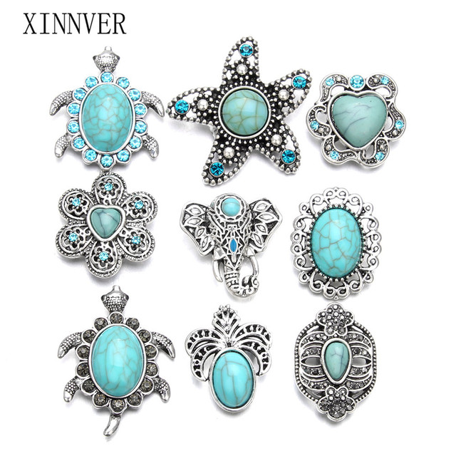 10pcs/lot Wholesale 18MM Snap Jewelry Stone Rhinestone Metal Snap Buttons fit 18