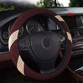 Fashion Design Car Accessories Beads Steering Wheel Cover Handmade DIY Braid Flower Printing Steering Wheel Cover lzh