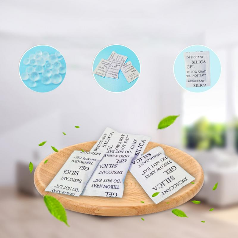 50PCS Desiccant 1g Silicone Moisture-Proof Bead Dehumidification Package No Odor Stable Chemical Properties