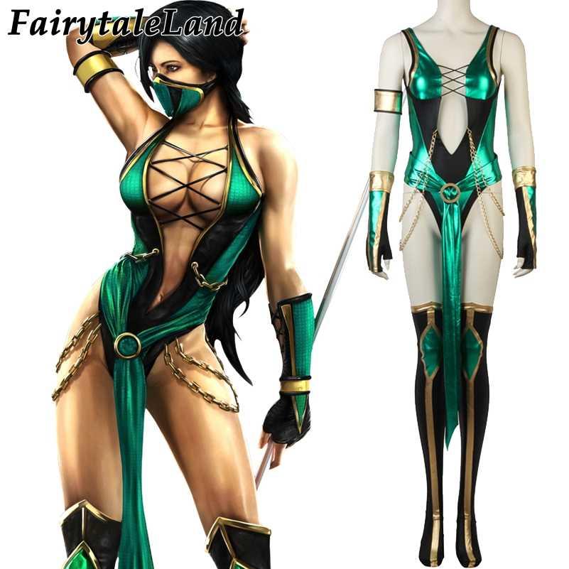 Mortal Kombat X Jade Cosplay Costume Halloween Costumes For Women