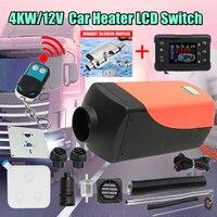 Может автомобильного обогревателя 4KW 12 В Air дизелей нагреватель стояночный отопитель с дистанционным нагреватель ЖК дисплей монитор