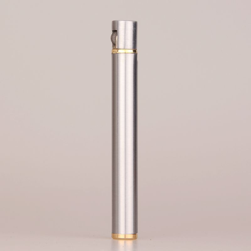 Image 5 - 2018 New Creative Mini Compact Jet Butane Lighter Metal Cigarette Shaped Inflatable Gas Lighter Cigarette No Gas Free Shipping-in Matches from Home & Garden