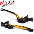 Motoo - F-14 C-777 Adjustable CNC 3D Extendable Folding Brake Clutch Levers For YAMAHA FJR 1300  XJR1200 XJR1300 V-Max YZF750R
