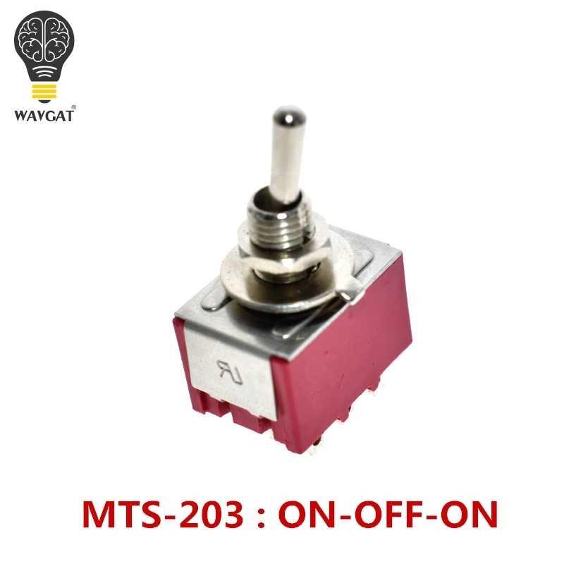 WAVGAT MARCHE-ARRÊT-SUR 3 6 9 Broches 3 6 9 Position Mini Verrouillage Interrupteur À Bascule 6A 3A MTS-103 MTS-203 MTS-303