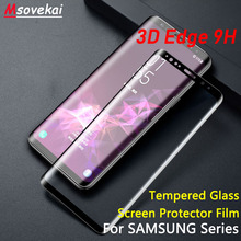3D Tempered Glass For Samsung Galaxy S7 Edge S6 Edge S7 Case S8 Plus S9 S9+ Plus Note9 Note8 Screen Protector  Full Cover Film lantro js phone sceen protector for samsung s7 edge s7 s6 edge s6 edge s8 s8plus s9 s9plus 3d cured full screen 0 2mm thickness