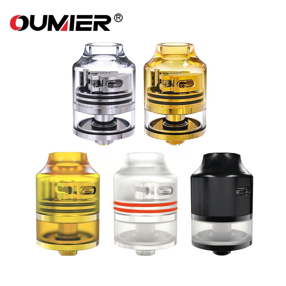 Auténtico OUMIER WASP NANO RDTA Tanque 2 ml 22mm diámetro atomizador fácil construcción cubierta y sistema de flujo de aire ajustable para e-cigarrillo