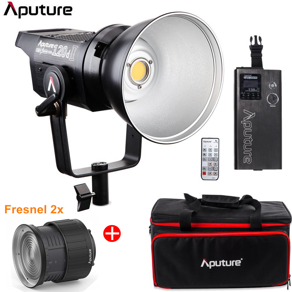 Aputure LS C120d 120D II Daylight 180W LED Continuous V-Mount Video Light Bowens Mount Studio Photograpy Lamp With Fresnel 2x