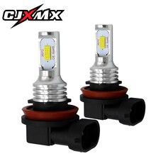 CJXMX H11/H8 автомобиля светодиодный туман лампочки 1600LM 80 Вт супер яркий автомобиль спереди противотуманная вождения лампа 12 В 6500 К авто огни