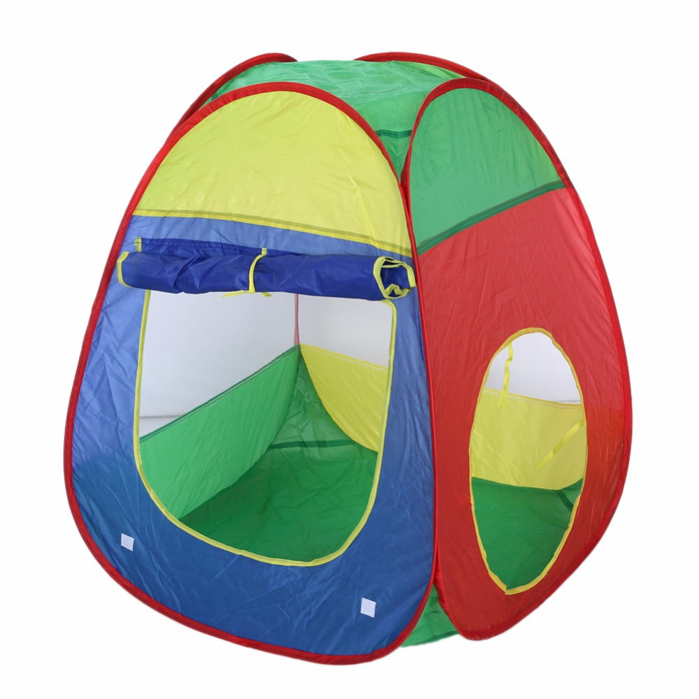 sale retailer ae666 590d5 US $26.75 45% OFF|3 in 1 Baby Play House Cubby Tube Teepee Play Tent Baby  Tunnel Toy Children's Tent Kids Adventure House-in Toy Tents from Toys & ...