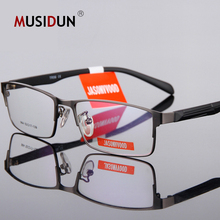 Fashion Eyeglasses Frame Men Computer Optical Myopia Spectacle Male Transparent Clear Lens Vintage Q233