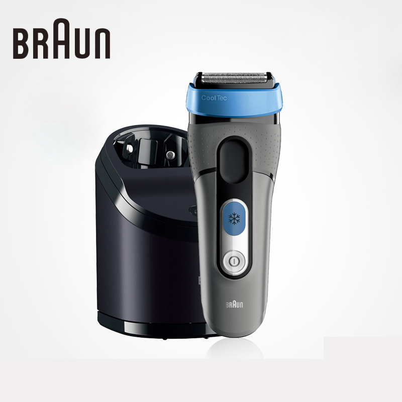 Braun Cooltec Electric Shavers Ct5cc Fully Washable High Quality For Men Shaving Safety Razors braun electric shavers 5030s rechargeable reciprocating blades high quality shaving safety razors for men