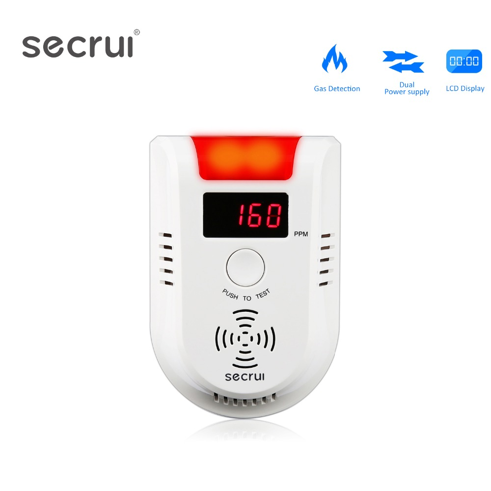 SECRUI GD13W Wireless Digital LED Display Combustible Gas Detector Independent Red LED Light Flashes For GSM PSTNSECRUI GD13W Wireless Digital LED Display Combustible Gas Detector Independent Red LED Light Flashes For GSM PSTN