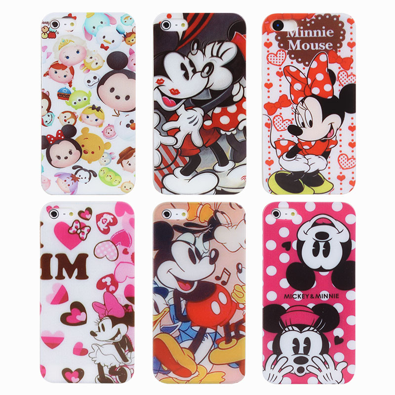 For iphone case style cute sweet mickey minnie mouse tpu mobile phone cases cover for iphone 4 - Minnie mouse mobel ...