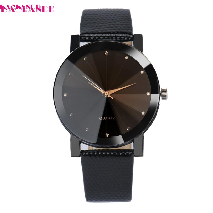 BAOLANDE2017 Luxury Unisex watches Quartz Sport watch Stainless Steel Dial Leather Band Wrist Watch Men Feb 14 luxury binary unisex digital led wrist watch rectangle dial stainless steel new sale