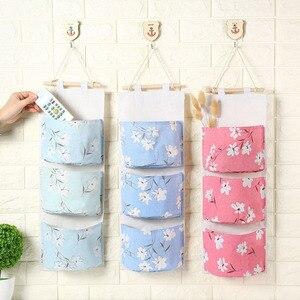 Image 5 - 2019 NEW Organizer Foldable Hanging Pocket Cloth Door Flower Storage Bag Home Household Items Laundry Basket Organizador