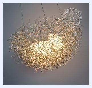 NEW Personalized aluminum 40cm 5 G4 wire bird nest pendant light lamp lighting fixture bedroon dining room Gift free shipping focal bird pack 5 1 super bird