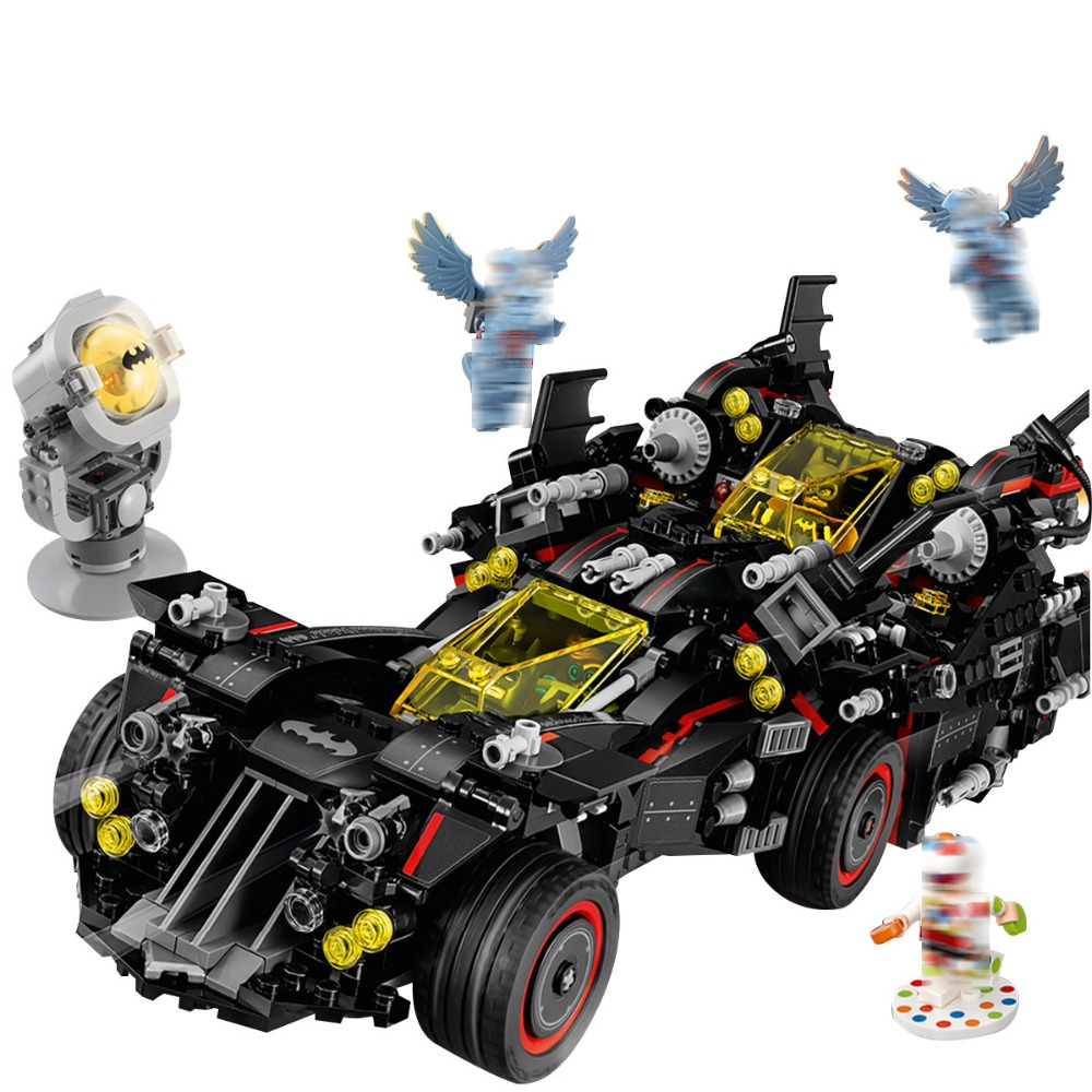 LEPIN 07077 1496pcs Technic Series The Ultimate Batmobile Set Educational Model Building Block Brick Toy For children Gift 70917 loz mini diamond block world famous architecture financial center swfc shangha china city nanoblock model brick educational toys
