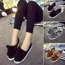 Home Leisure Non-slip Ladies Shoes Flats Woman Shoes Loafers Suede Style Cute Cat Ears Flats Shoes *35 slip-on shoe