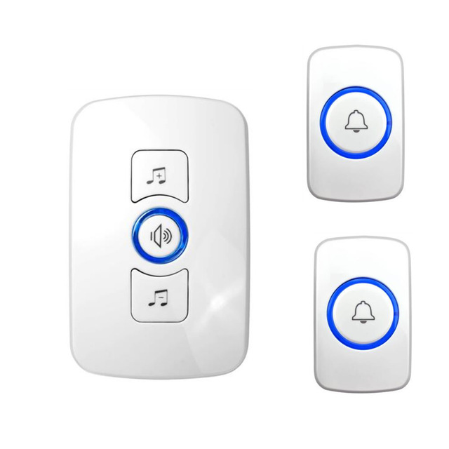 Fuers White New Home Welcome Doorbell Intelligent Wireless Doorbell Waterproof EU UK US Plug 32 Tune Songs Smart Door Bell Chime