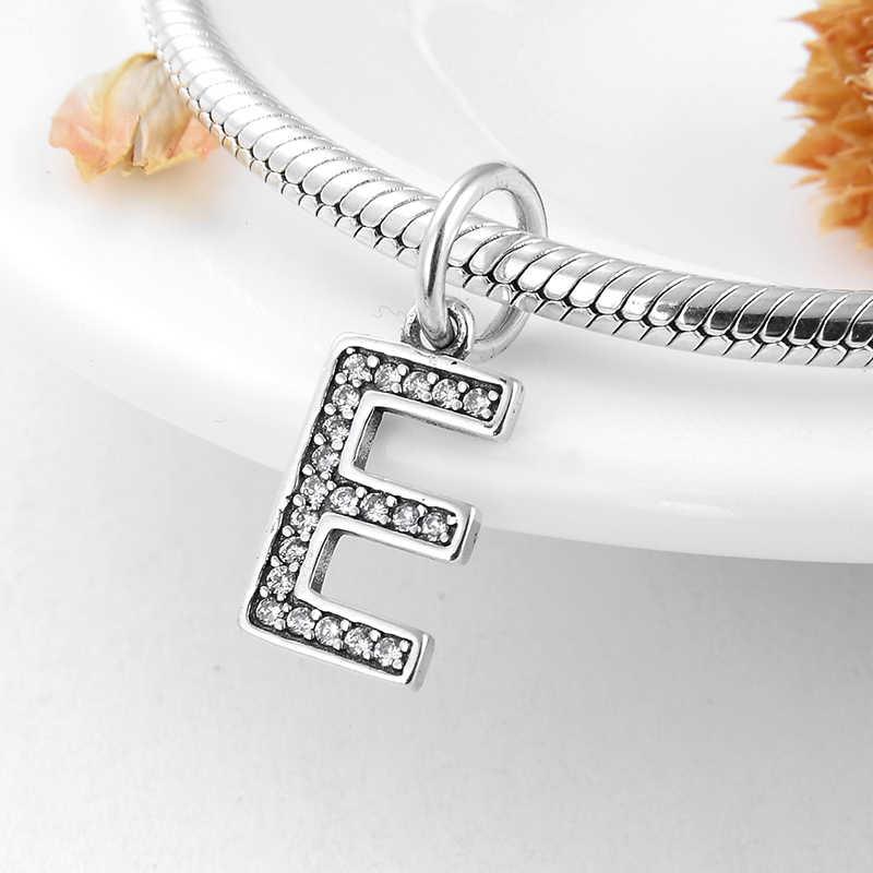 Fit פנדורה קסמי כסף 925 מקורי צמיד אמיתי 925 כסף סטרלינג אופנה למכתב Z סגולה לתכשיטים ביצוע