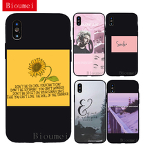Bioumei  sunflower Plants view black Soft TPU Case for iphone XR XS Max 6 6S 7 8 Plus 5 fashion Back Cover X 05