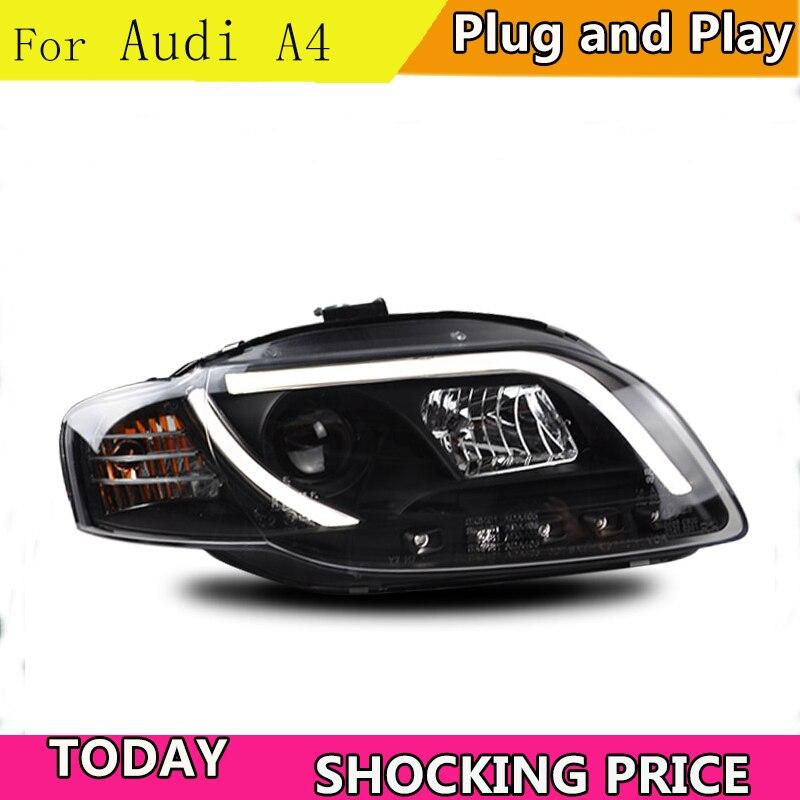 doxa Car Styling for Audi A4 B7 Headlights 2005 2008 A4 B7 LED Headlight DRL Lens