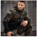 2016 New Fashion Hoodies Men Letter Print O-Neck Sweatshirt Men Tracksuit Trend Suits Set Mens Hoodies And Sweatshirts