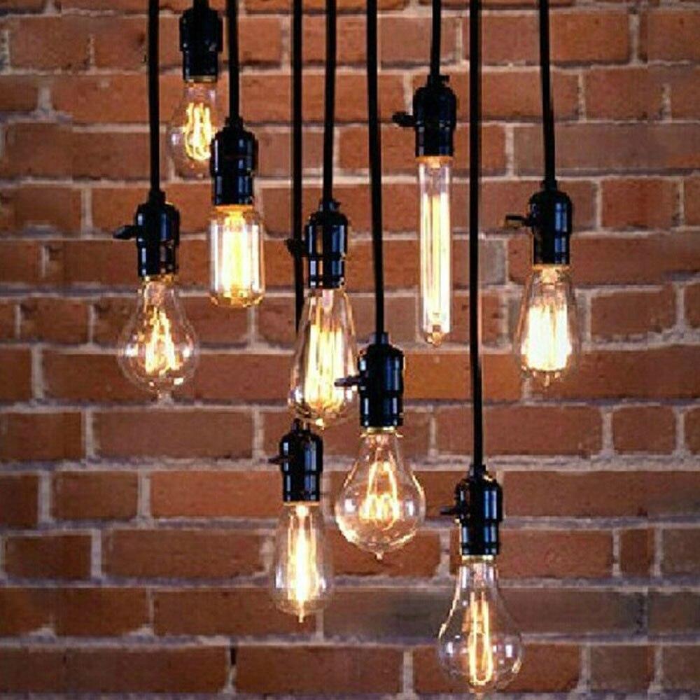 Vintage American Country 1PC Pendant Light Line 1 2m Pendant Lamp Hanging Fixture Lighting Kitchen Bar