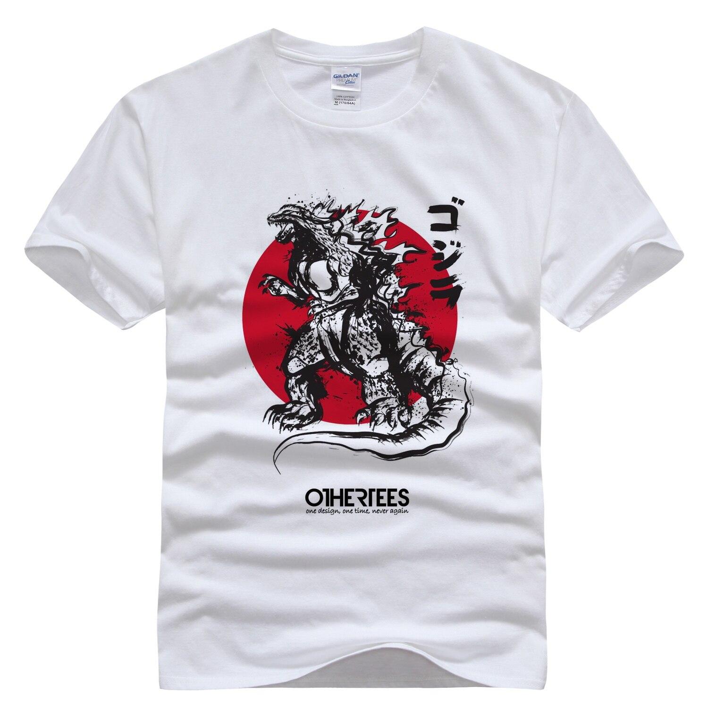 Design t shirt china - Godzilla Tee Men T Shirt Design Short Sleeve 100 Cotton Men S Tees Shirt China