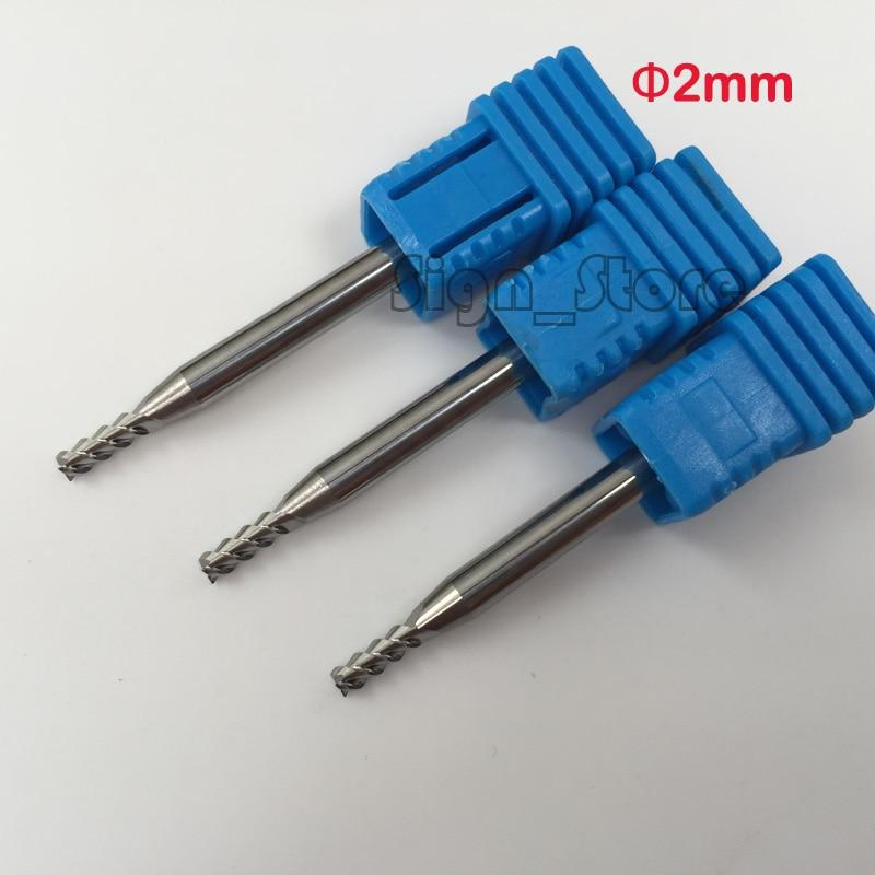5Pcs 3F Aluminium End Mill 2mm Cutter CNC Router Endmill Drill Bit Three Flutes Milling Cutter 4*2*5*50mm 10pcs box 1 8 inch 0 8 3 17mm pcb engraving cutter rotary cnc end mill milling cuter drill bits