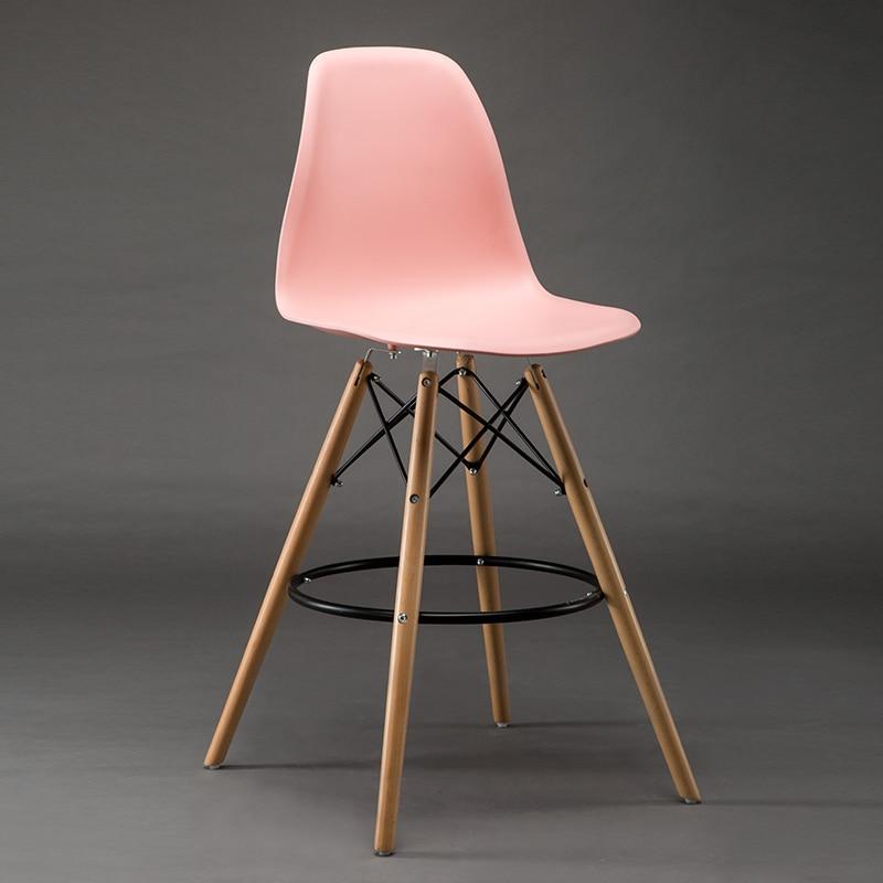 Rose couleur tabouret en plastique siège chaise de bar ...