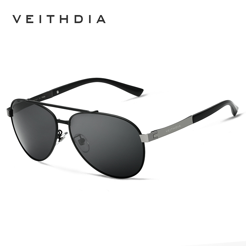 Veithdia brand best alloy men 39 s sunglasses polarized lens for Fishing sunglasses brands