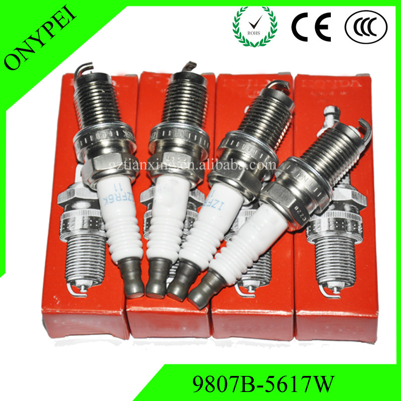 Image 1 - 4PCS/lot Car Plug IZFR6K 11 9807B 5617W Laser Iridium spark plug For Honda 9807B 5617W IZFR6K11 6994 IZFR6K 11 9807B5617W-in Spark Plugs & Glow Plugs from Automobiles & Motorcycles