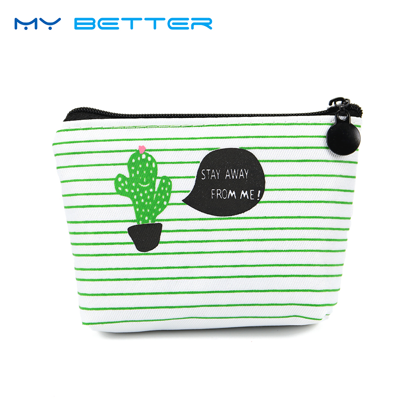 Small Cute Kids Coin Wallet Women Coin Purse Money Pouch Cactus Change Pouch Key Holder Bag 2017 new mini bag leather coin purse header key wallet money card holder change wallet pouch change purse wholesale high quailty