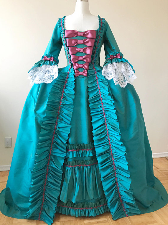 18th Century Gown Gorgeous Rococo Gown Historical Costume Event Dress gown