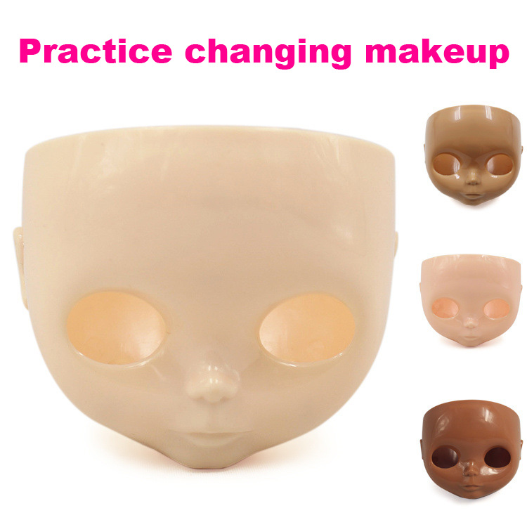 ICY Blyth Doll Face Shell For Makeup The Blyth Doll RBL+ Faceplate Backplate Screws For DIY Doll 5 Colour Choose