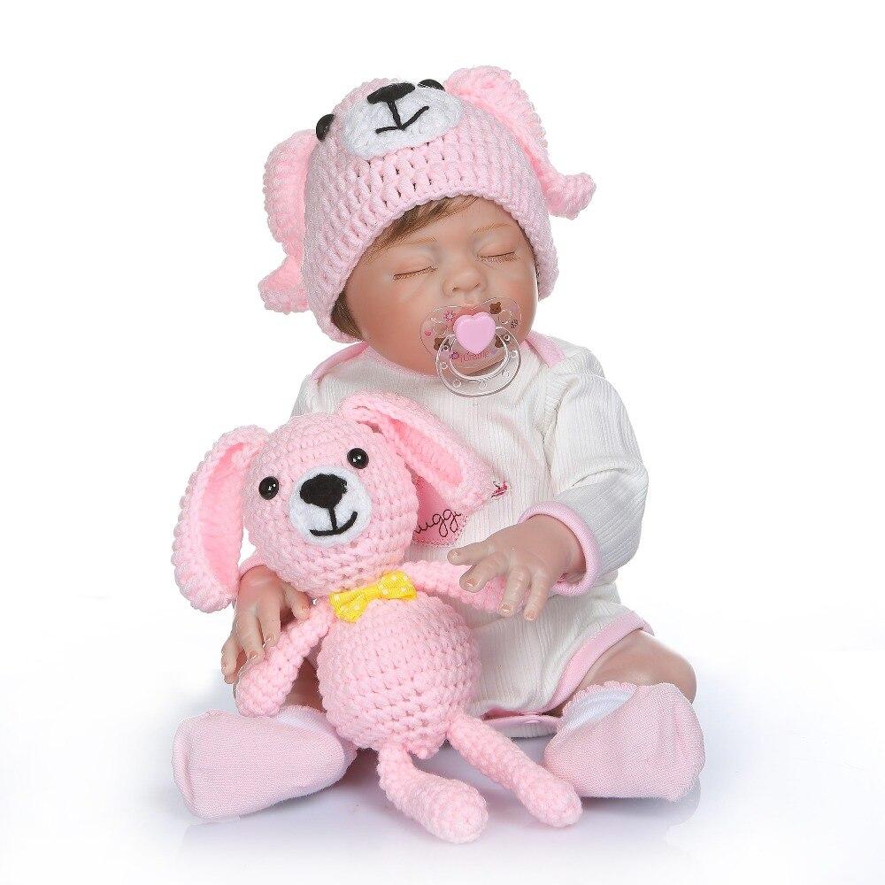 50 cm plein silicone vinyle nouveau-né bambin bébés poupées 20 pouces bébé dormir lol cadeau d'anniversaire présent enfant jouer maison jouets