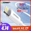 Ugreen MFi Cable USB para iPhone X Xs X Max XR 2.4A de carga rápida USB cargador de Cable de datos para iPhone Cable 8 7 6 Plus cable de carga USB