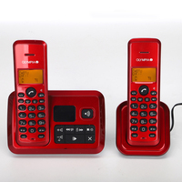 English German Russian Language Wireless Phone With Call ID Answer System Function Telefon Landline Telephone For Home Silver