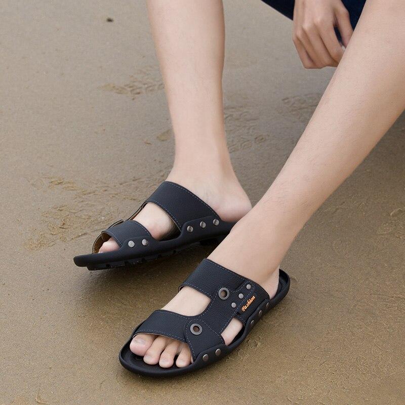 ALCUBIEREE летние сандалии из натуральной кожи для мужчин дышащая пляжная обувь открытый гибкие сандалии легкие сандалии