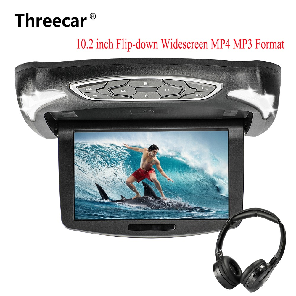 10.2 Inch Flip Down DVD Player with DVD HDMI Games USB SD IR 1080P Headset Roof Mount DVD Player for Car SUV Truck Trailer10.2 Inch Flip Down DVD Player with DVD HDMI Games USB SD IR 1080P Headset Roof Mount DVD Player for Car SUV Truck Trailer