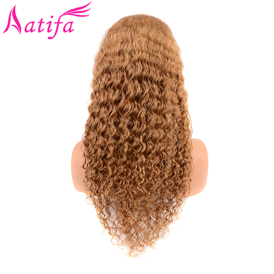Honey Blonde Lace Front Human Hair Wig Pre Plucked Color 27 Deep Wave Lace Frontal Wig