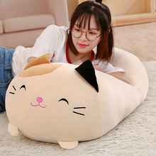 1Pc Doll Down Cat Pillow Plush Cushion Brinquedos With PP Cotton Stuffed Animal Toys Dolls Kids Home Decoration