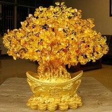 Fortune Tree Ornament Gold Ingot Gift Desktop Yuanbao Golden Delicate Money Beautiful Crafts