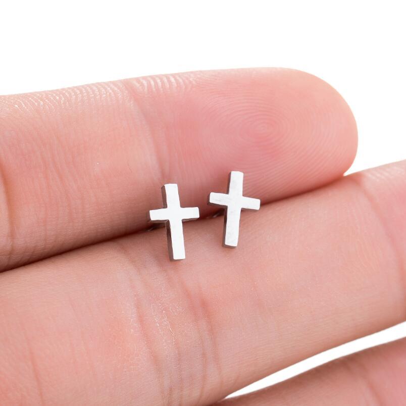 SMJEL, модные богемные ювелирные изделия из старинных серег, милые черные геометрические круглые серьги-гвоздики из нержавеющей стали, лучший подарок для женщин и девушек - Окраска металла: GED021