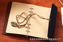 High-end custom loose-leaf leather leaves retro notepad notebook/gift/office/diary/school