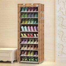 DIY Oxford tkaniny odporne na kurz szafka na buty buty stojaki 10 warstw 9 siatki organizer na obuwie Case półka buty szafka do przechowywania