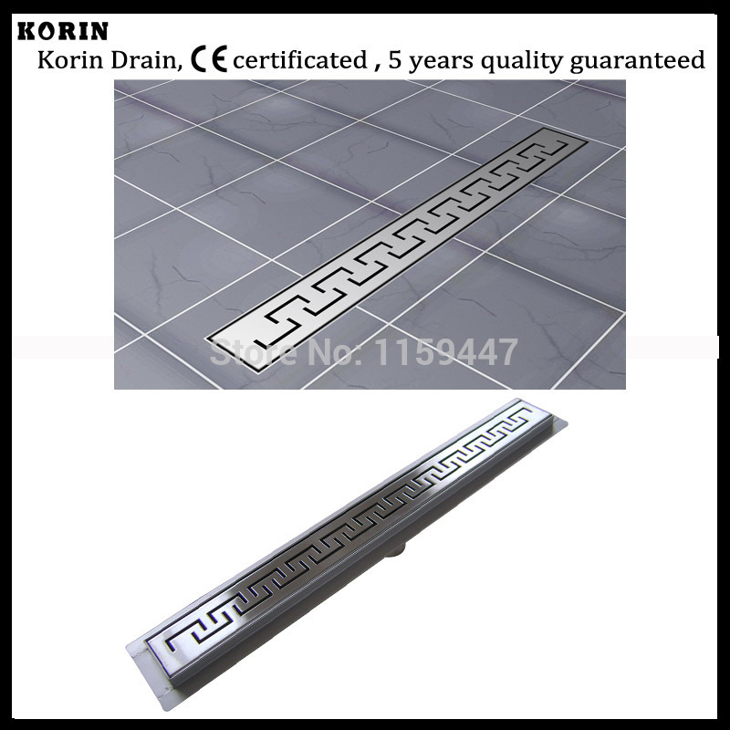 "1200mm ""ZIPPER"" Style Stainless Steel 304 Linear Shower Drain, Vertical Drain with flange, Floor Waste, long floor drain"